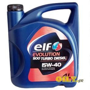 Elf Evolution 500 Turbo Diesel 15W40 - 4 λιτρα