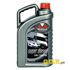 Midland Super Diesel 15W40 - 4 λιτρα