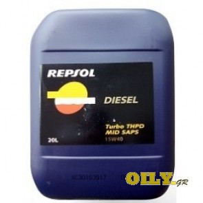 Repsol Diesel Turbo THPD Mid SAPS 15W40 - 20 λιτρα