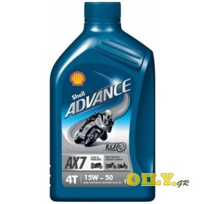 Shell Advance 4T AX7 15W50 - 1 λιτρο