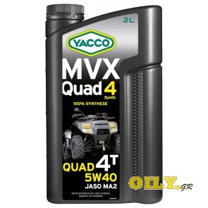 Yacco MVX Quad 4T Synth 5W40 - 2 λιτρa